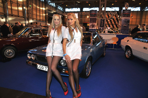 Promo girls at the 2010 NEC Classic Car Show.