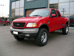 A 1993 Ford F Series truck.