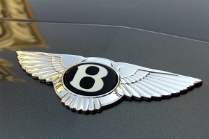 The Bentley automotive logo.