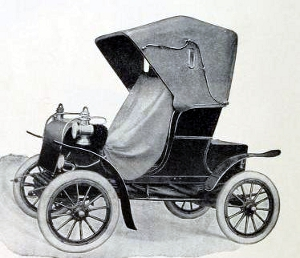 The image is of the 1904 Stevens-Duryea automobile. It is from the archive.org collection of public domain books. The scanned copy came from the Northeastern University, Snell Library.