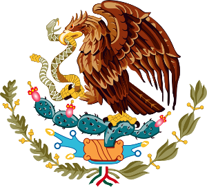 The Mexican coat of arms.