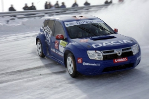 Alain Prost driving a Dacia Duster during qualifying session of the 2nd round of Trophee Andros 2010.