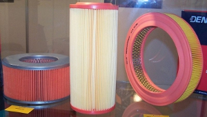 Various types of automotive air filters.